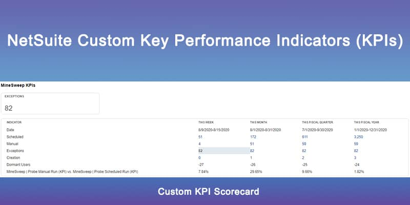 NetSuite Key Performance Indicators
