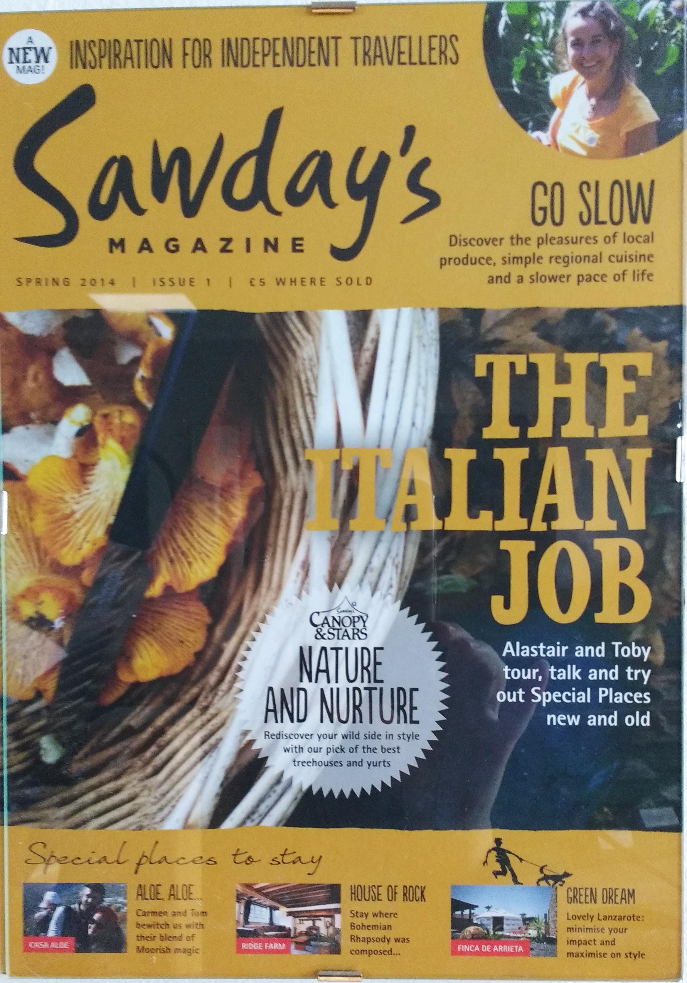 As featured in Sawdays magazine - Villa Pian Di Cascina Press Reviews