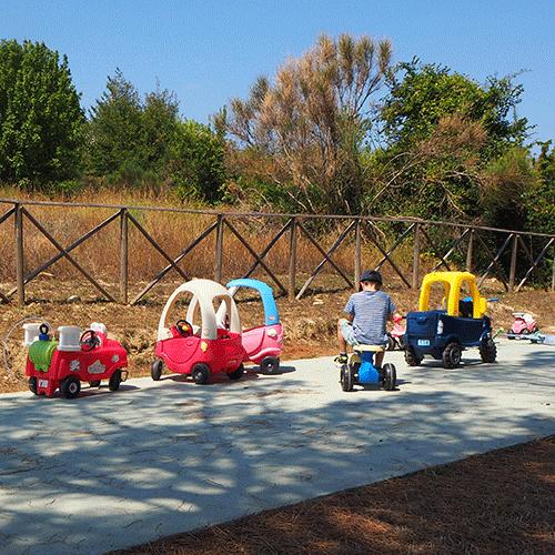 FAMILY HOLIDAY RETREAT TOTS RIDE ON PARK