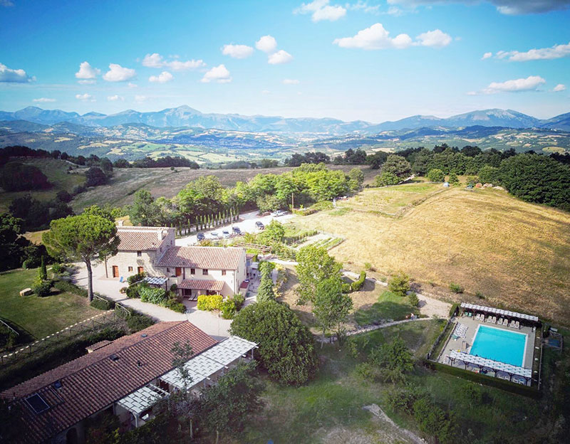 ARIAL VIEW AT PIAN DI CASCINA FAMILY HOLIDAYS
