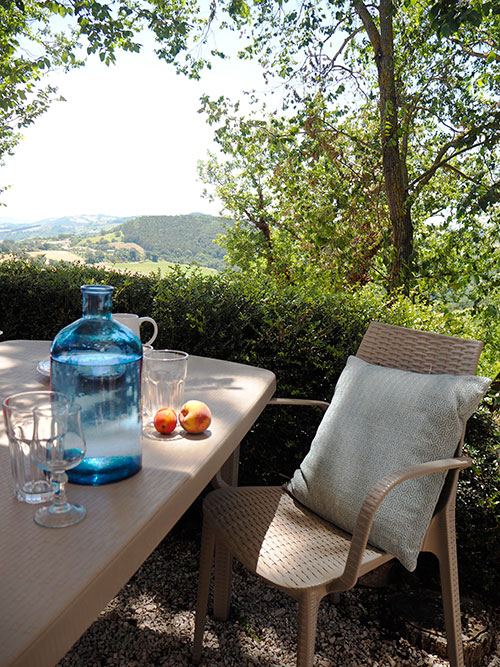 TERRACE VIEW FROM THE ASSISI AT UMBRIA WITH KIDS FAMILY HOLIDAYS