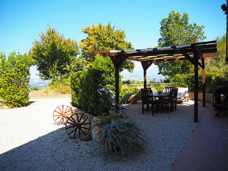 CASCINA-TERRACE AND VIEW