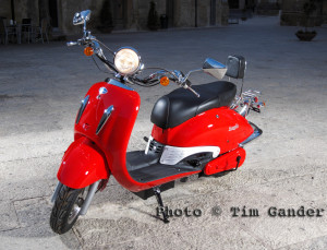 electric scooter in sicily