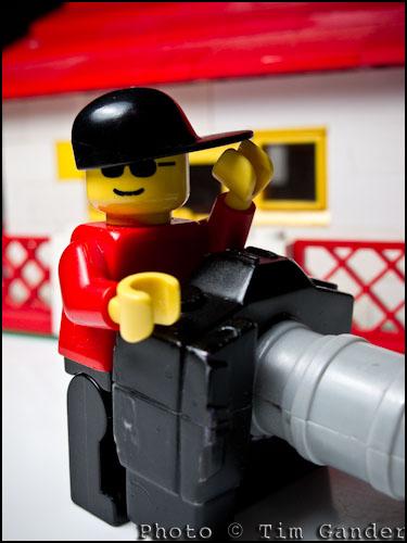 LEGO figure with huge camera