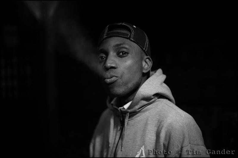 black man smoking