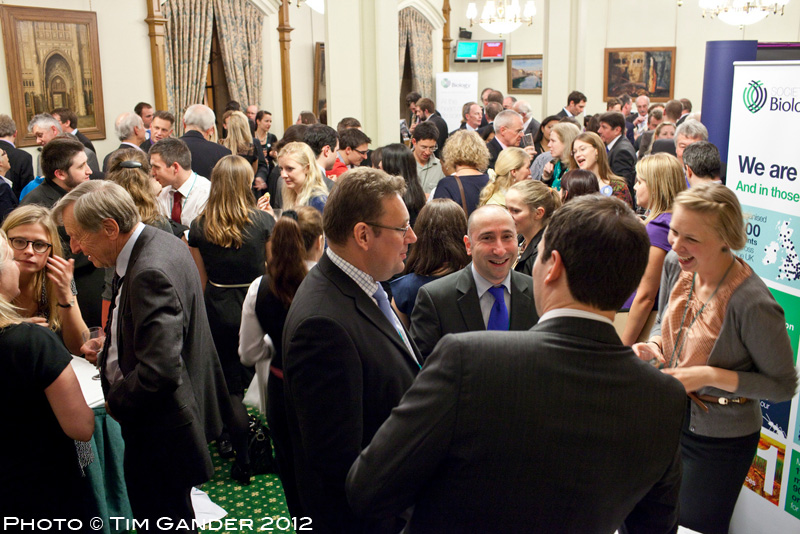 Guests gather for Biology Week event at Churchill Rooms, House of Commons