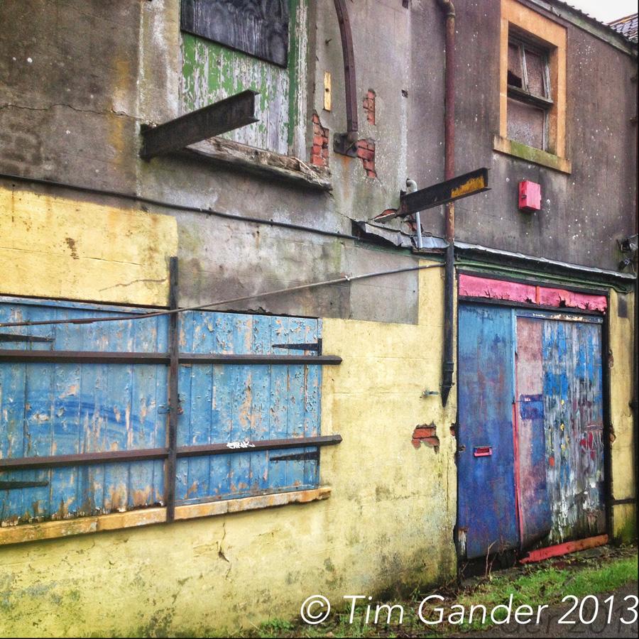derelict building exterior in Frome