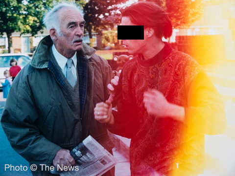 A youth threatens a pensioner near Hamble, Hampshire