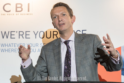 Andy Haldane of Bank of England speaks at a lectern at a function in Bath