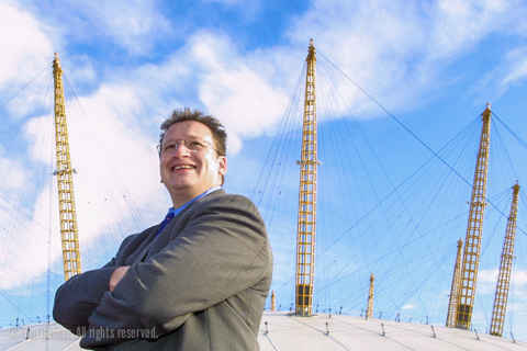 P Y Gerbeau at the Millennium Dome, Greenwich, London