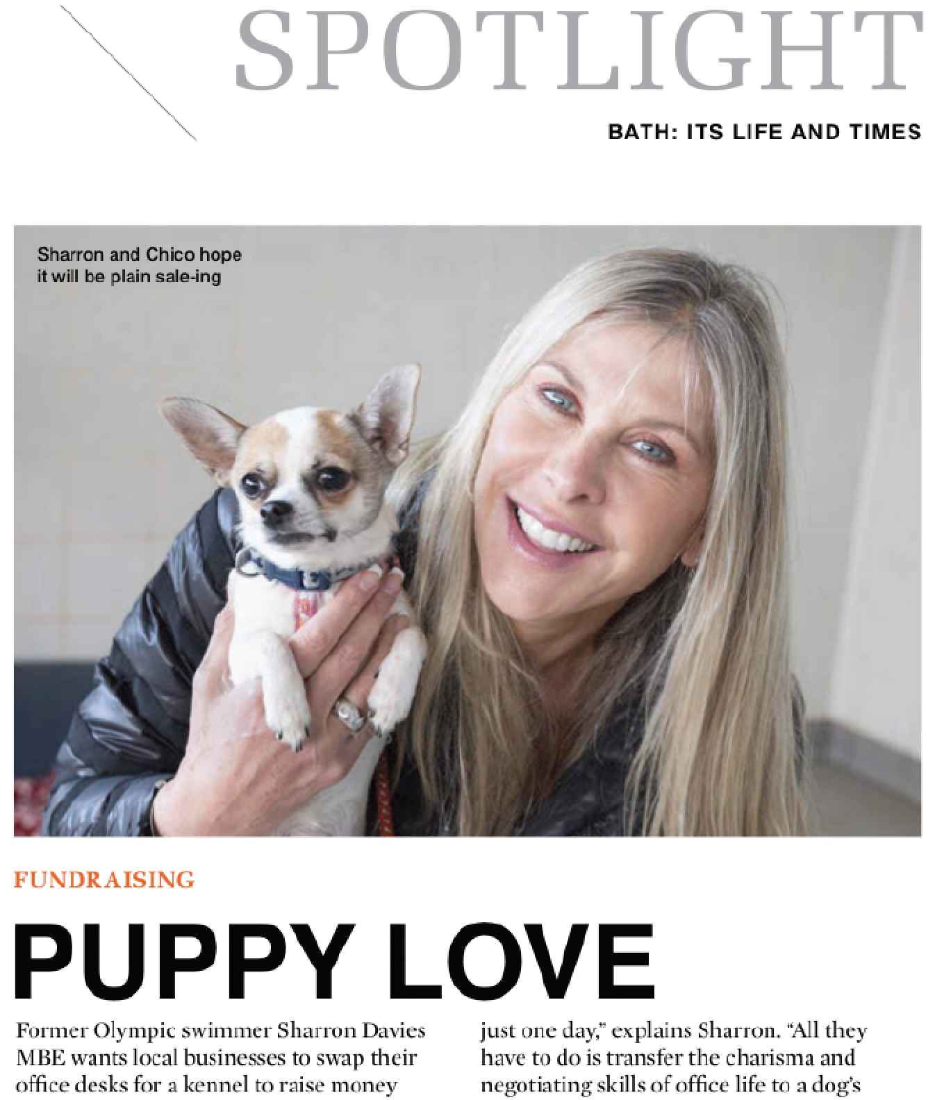 Screen grab of Bath Life use of the article and image