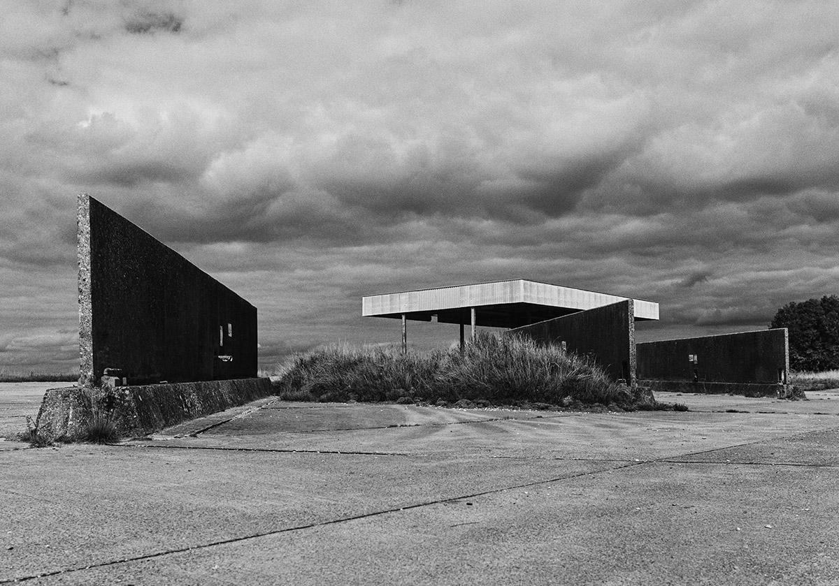 Concrete vehicle washing station, Salisbury Plain.