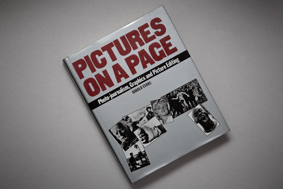 Cover of Harold Evans' book Pictures on a Page.