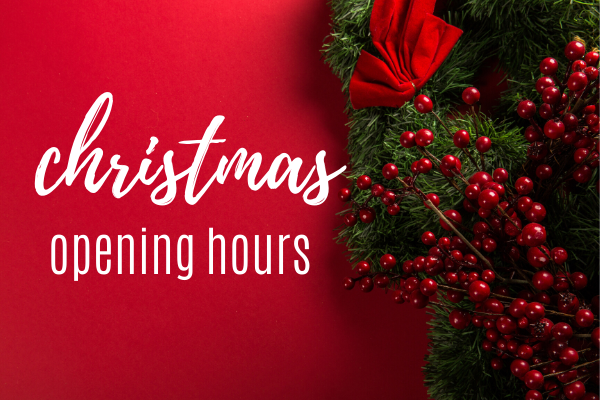2019 Christmas Opening Hours