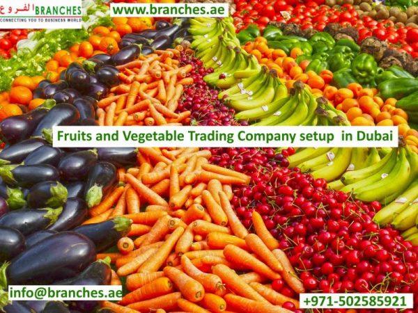 Fruits and Vegetable Trading Company setup in Dubai