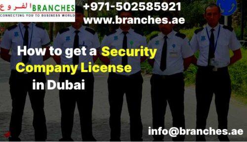 Security Company License in Dubai