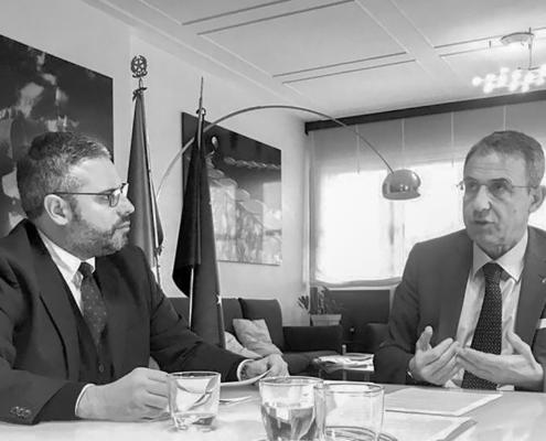Incontri al Ministero con Sergio Costa