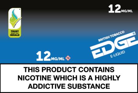 edge british tobacco 12mg