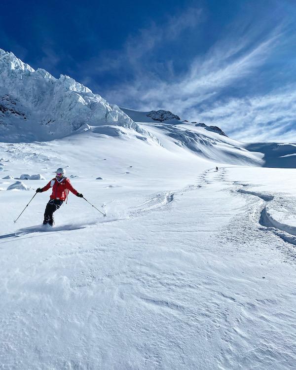 Skiabfahrt von der Wildspitze Tirol. Wildspitze Seil - Skitour