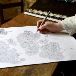 Josephine Munsey Hand Drawing Designer Wallpaper