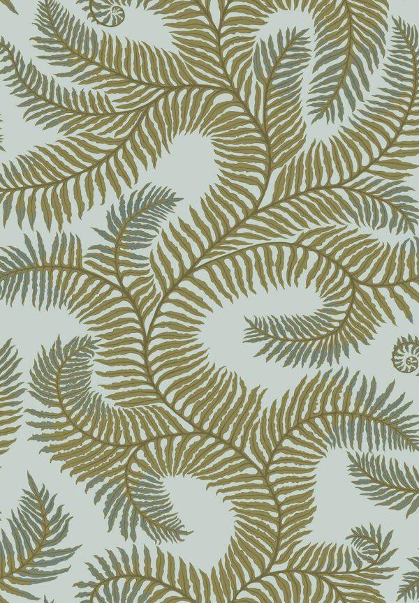 Designer Ferns Wallpaper   Olive & Celadon
