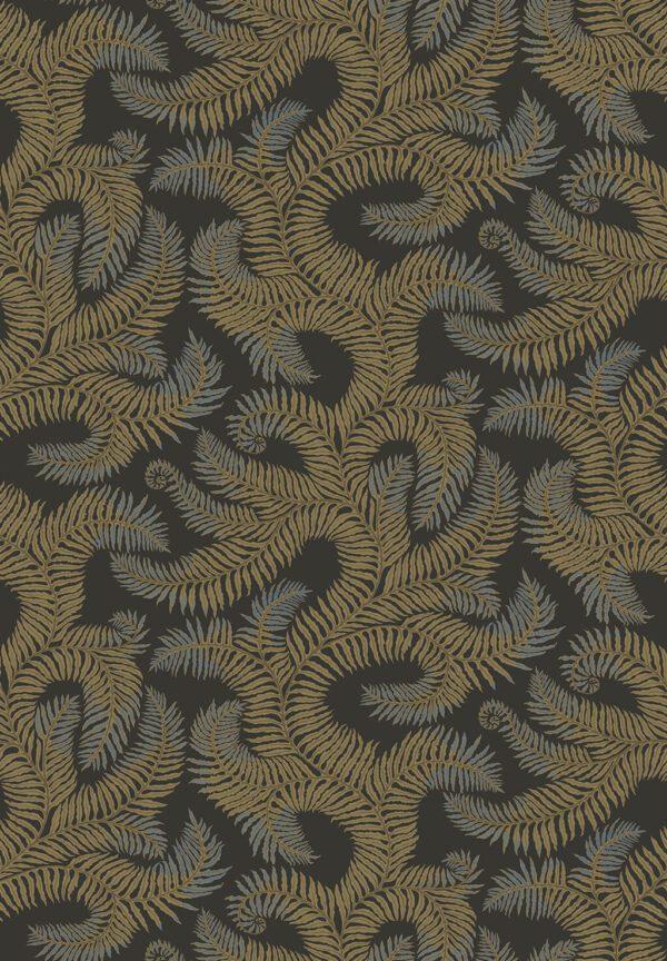 Designer Ferns Wallpaper | Olive & Dark Grey