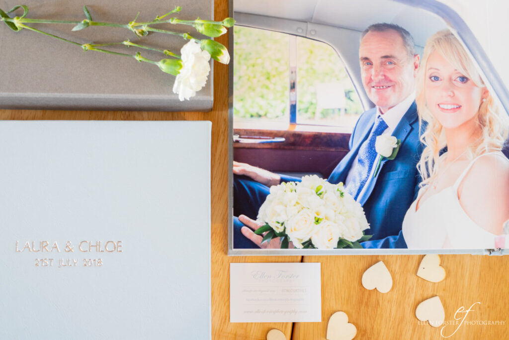 Wedding albums with soft grey box, created with SIM Imaging.