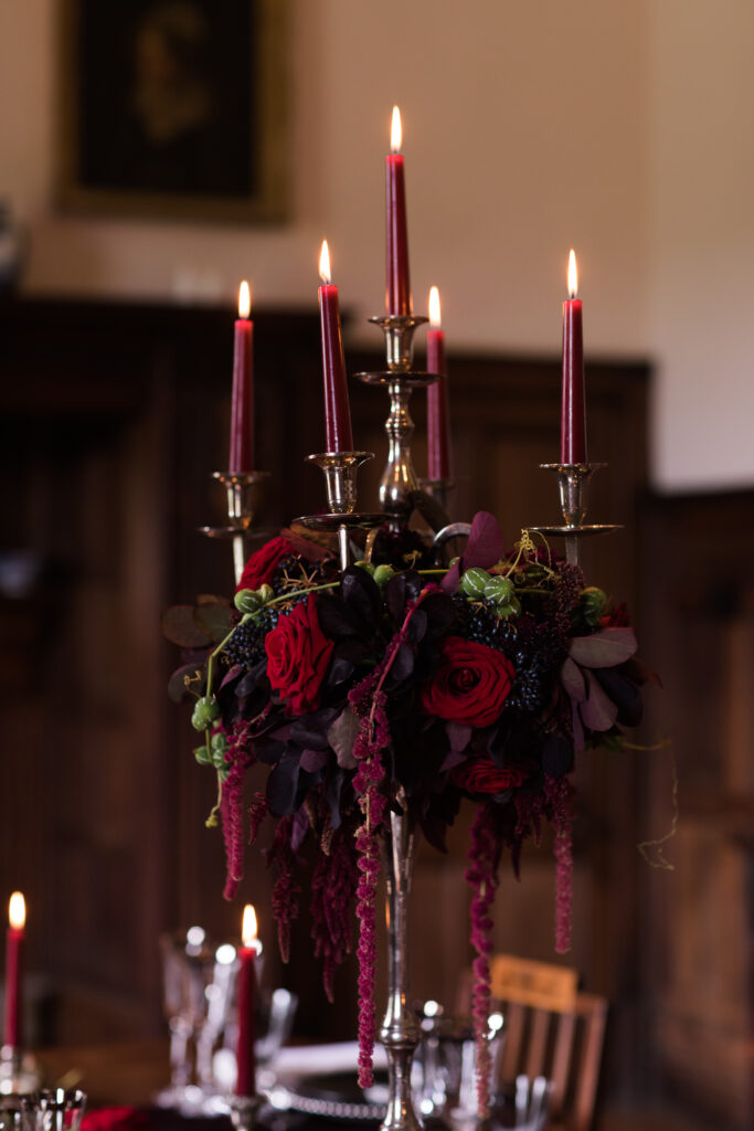Gothic styled shoot by Amethyst Weddings with photography by Jenny Owens Photography