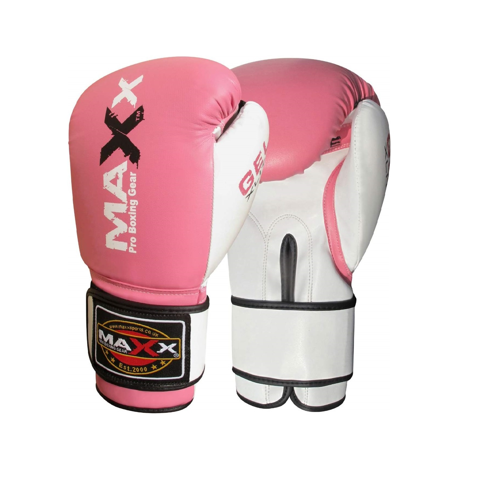 Maxx Jet Black GEL ICON range Leather Boxing Gloves MMA Training Fight Sparring Punching kickboxing