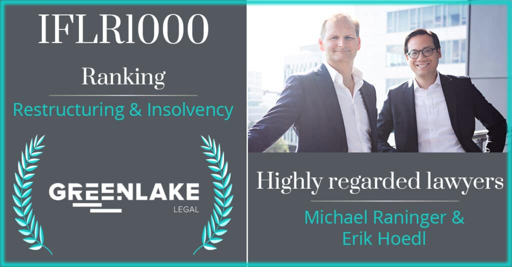 Greenlake Legal - IFLR1000 Ranking Restructuring & Insolvency