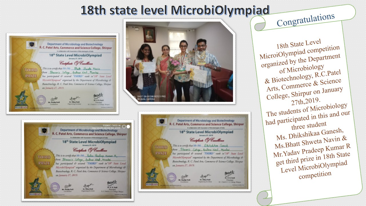 18th state level microbiolympiad