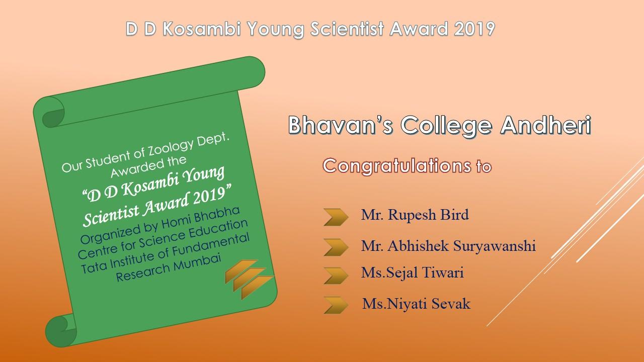 TIFR Award of Zoology Dept-2019