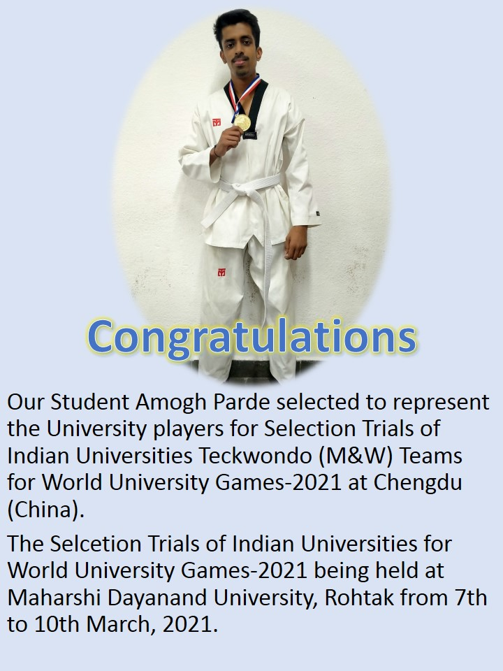 Indian Universities Teckwondo Awards