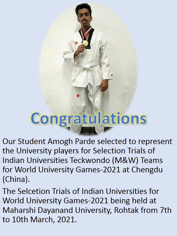Indian Universities Teckwondo Awards
