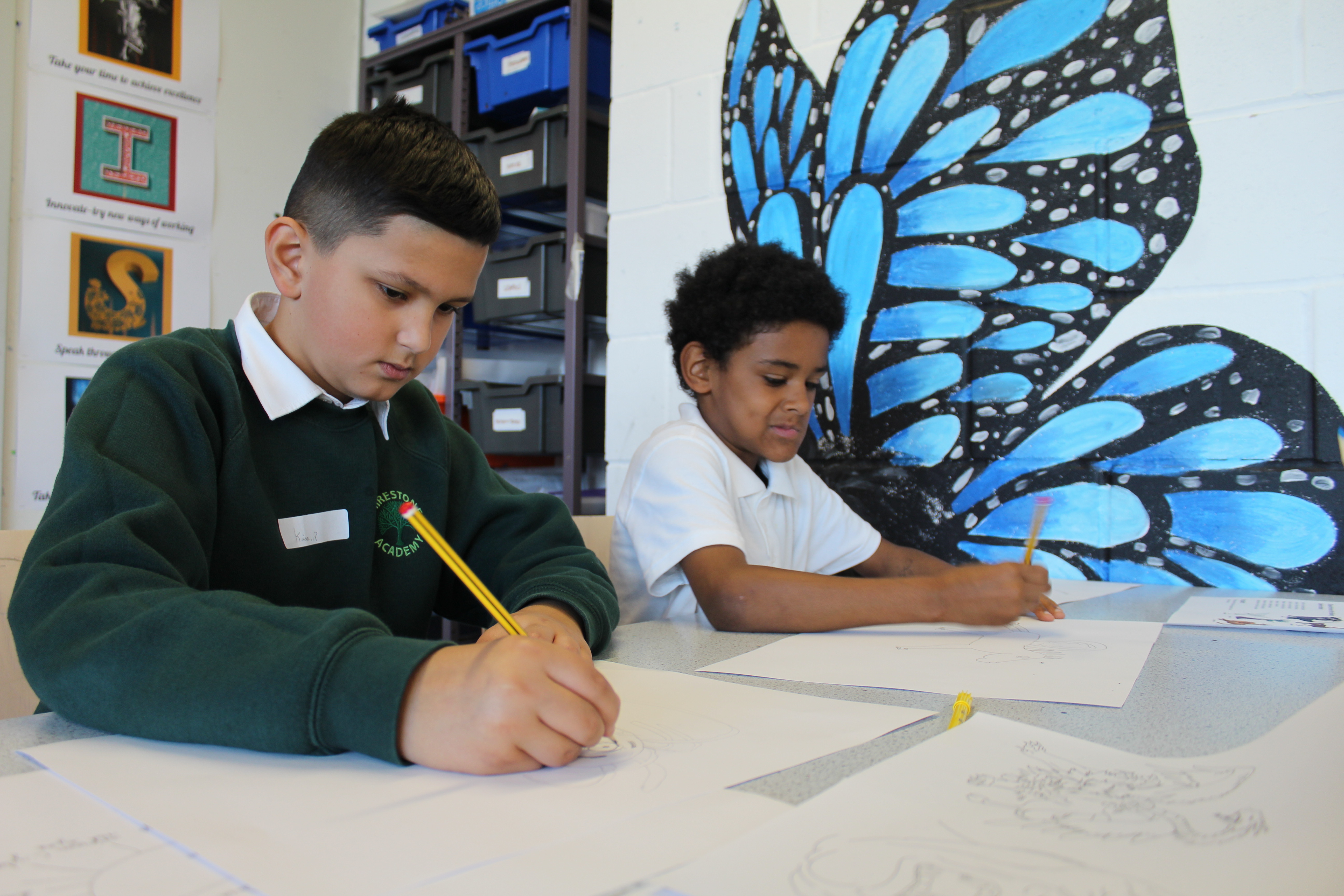 Shirestone creating mythical creatures at Grace academy
