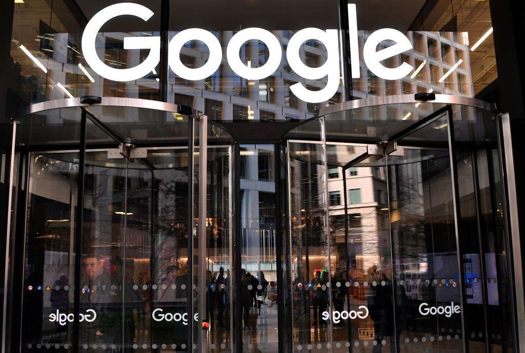 Google logo on building