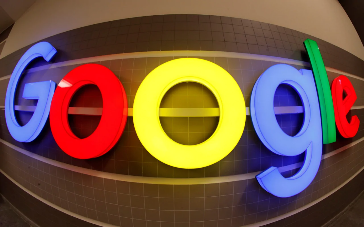 Google logo on wall