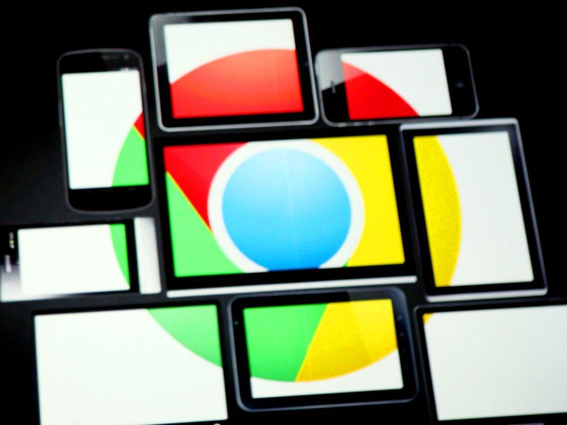 Google logo across multiple screens