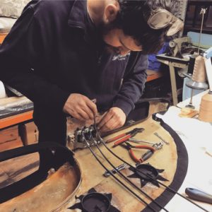 About the The Light Car Company: Chris Holley busy in the workshop