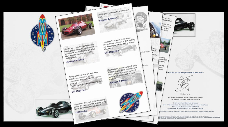 The Light Car Company Rocket original brochure