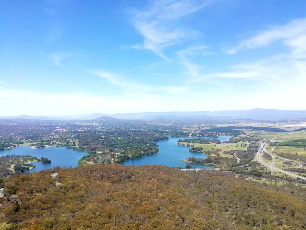 View of Canberra from the Telstra Tower