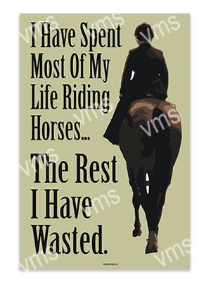 AN007 – Riding Horses – 12×18