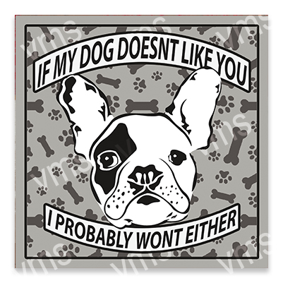 AN016 – Dog Doesn't Like you Frenchie 12×12