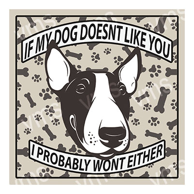 AN019 – Dog Doesn't Like you English Bull – 12×12