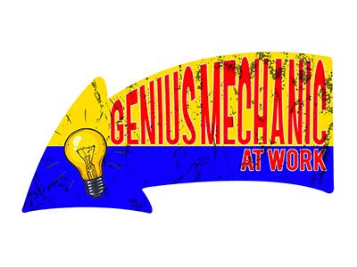 ARW001 – Genius Mechanic – 16″x8.5″