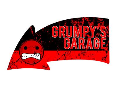 ARW003 – Grumpys Garage – 16″x8.5″