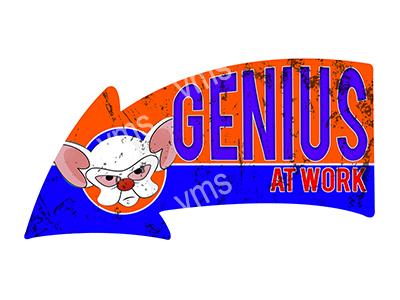ARW007 – Genius At Work – 16″x8.5″