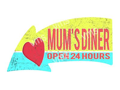 ARW013 – Mums Diner – 24″x14″