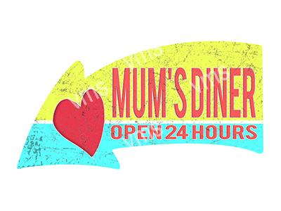 ARW015 – Mum's Diner – 16″x8.5″