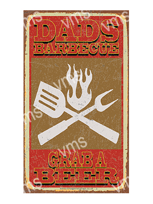 BBQ002 – Dads Barbeque – 8″x14″